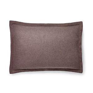 Ralph Lauren Riverport Wool Pillow Sham Case (1) KING Purple Nip $215