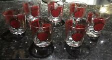 Vintage Set of 7 Old Fashioned/Rocks Glasses w/ included Drink Mix Recipes
