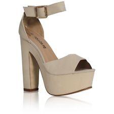Womens Fashion Strap Ladies Platform Chunky High Heel Sandals Shoes Size Uk3-6.5 Black UK 4.5 US 6.5 EUR 37