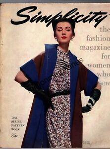 1951 Simplicity Fashion Book - Spring - Rare