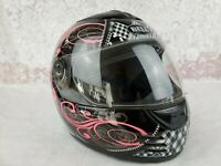 Bell Motorcycle Helmet Full Face Size M Arrow Dot Pink Without Cheek Inserts