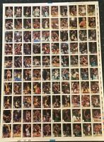 1992-93 Hoops 100 Card Factory Uncut Sheet Test Proof Magic Johnson Malone HOF +