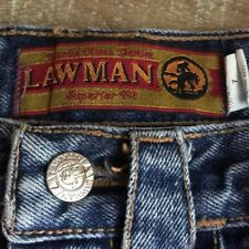 LawMan Superior Fit Ladies Size 7 Cotton Classic MOM Jeans Straight Leg 28 Waist