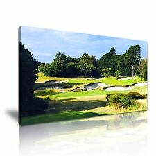 Royal Melbourne Golf Course Canvas Wall Art Picture Print 60x30cm