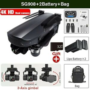 SG908 Drone 5G WiFi 4K Camera GPS FPV 3-Axis Brushless RC Quadcopter 2 Batteries