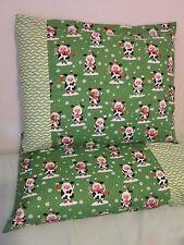 Christmas cow pattern 100% new Cotton handmade Pillowcase one pair