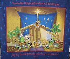 "1 Cranston ""Veggie Tales Nativity"" Christmas fabric panel"