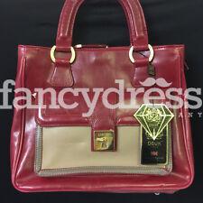 Deep Red Beige Distressed Textured Bag Ladies Handbag Fashion Christmas Gift New