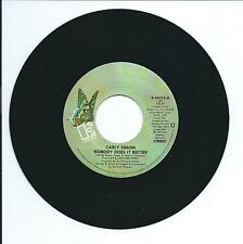 "1977 CARLY SIMON ""NOBODY DOES IT BETTER"" 45rpm 7"""
