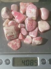 Gemstone Farmer: 1/4 Lb Tumbled Raw Rhodochrosite Gemstones from Argentina