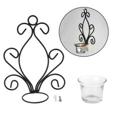 1Pc Antique Design Of Iron Candle Holder Candlestick Wall Mounted