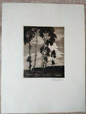EVA LANGKAMMER - Birkengruppe - Radierung - um 1920- handsigniert