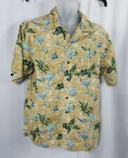 Columbia Mens Shirt Size Medium Button Front Palm Trees & Cocktails Short Sleeve