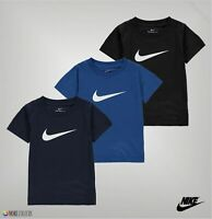 Boys Nike Logo Swoosh Lightweight Round Neck T Shirt Sizes Age from 2 to 7 Yrs
