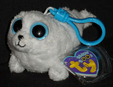 TY BEANIE BOOS - ICEBERG the WHITE SEAL – KEY CLIP - MINT with MINT TAGS