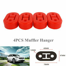 4pcs Universal Car Rubber Exhaust Hanger Pipe Mounting Bracket 12mm Holes Red