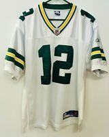 Reebok Authentic NFL Jersey Green Bay Packers Aaron Rodgers White Size 48