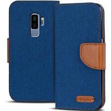 Handy Tasche Samsung Galaxy S9 Plus Book Case Hülle Klapphülle Flip Cover Blau
