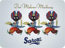 Sarotti Drei Mohren Mischung Blechschild 8x11 cm Blechkarte Sign PC-201/483