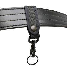 Perfect Fit Nylon Key Strap Belt Keeper Black Hardware Police Firefighter EMT
