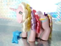 Streaky Rainbow Curl Hasbro G1 Vintage My Little Pony With Brush