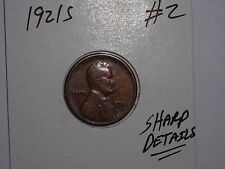 wheat penny 1921S HIGH GRADE DETAILS LINCOLN CENT 1921-S LOT #2 SEMI-KEY DATE