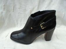 Zapatos De Mujer Nine West De Cuero Negro/Botas Uk Size 8