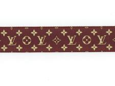 "Lv Louis Vuitton Monogram 7/8"" Grosgrain Ribbon 1,3,5,10 Yard"