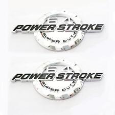 2x OEM Black 7.3l Powerstroke Emblem Power Stroke Badge Z for Ford F250 F350