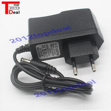EU Plug Adapter AC 100-240V To DC 12V 1A Power Supply For 3528 5050 Strip LED
