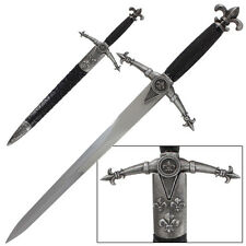 King's Divinity French Fleur-de-lis Medieval Dagger Collectible