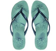 Oakley Dartboard Powder Blue Size 11 US Womens Girls Sandals Beach Flip Flops