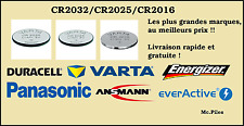 6x Panasonic Cr2016 3v Lithium Boutons Batterie Cellule 2016 Dl2016 Expiration