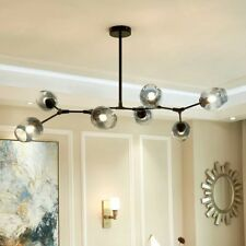 Large Chandelier Lighting Kitchen Pendant Light Black Lamp Glass Ceiling Lights