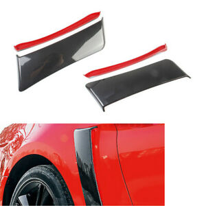 2x Carbon Fiber Style Rear Side Fender Door Scoop fit for Ford Mustang 2015-2017