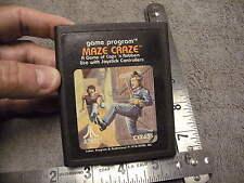 Vintage Atari  2600 Game Maze Craze , Cops & Robbers Joystick Game , 1978