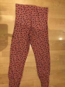 esmara maternity leggings Pyjama Bottoms Pink Floral Size 12/14 Ditsy Soft
