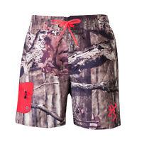 Browning YOUTH Boardshorts Board Shorts Mossy Oak Camo / Blaze Orange