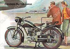 Zündapp Norma Luxus Motorrad Poster Plakat Bild Affiche Literatur Kunstdruck
