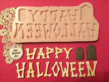 Happy Halloween Silicone Mold Food Safe  Cake Decoration  Cupcake  (FDA)