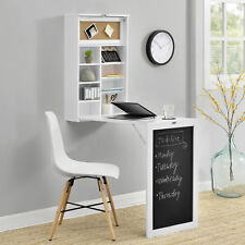 [en.casa] table de mur blanc Bureau Table étagère mur Table pliante aus-klappbar