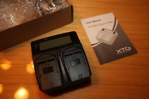 New XTG Dual Charger for Canon LP-E8 Camera Batteries Super fast Charger V13