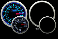"EGT Exhaust Gas Temperature Gauge-Blue/ White 52mm  2 1/16"" Includes Temp probe"