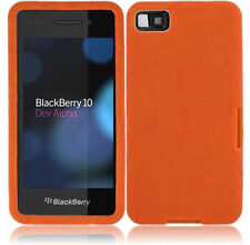 For BlackBerry Z10 Rubber SILICONE Soft Gel Skin Case Phone Cover Orange