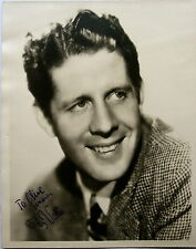 Rudy Vallee and 2 Actresses 8x10 Autograhed Photographs {3} from the 30's