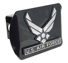 United States Air Force Wings Black Trailer Hitch Cover High Quality Made in USA