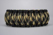 550 Paracord Survival Bracelet King Cobra Black/Gold/Knights Camping Tactical