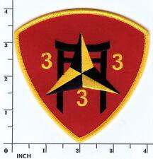 USMC 3rd Battalion/3rd Marines PATCH ! 3/3/3 OEF ! Tori Gate 3d Bn/3d Mar RARE !
