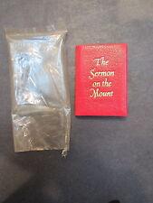 1973 miiniature leather book-Achille St. Onge-Sermon on the Mount ltd ed- unused