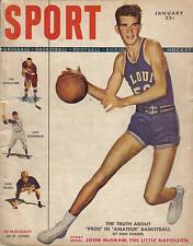 1949 JAN Sport Magazine basketball Ed Macauley, St. Louis Lou Boudreau Cleveland